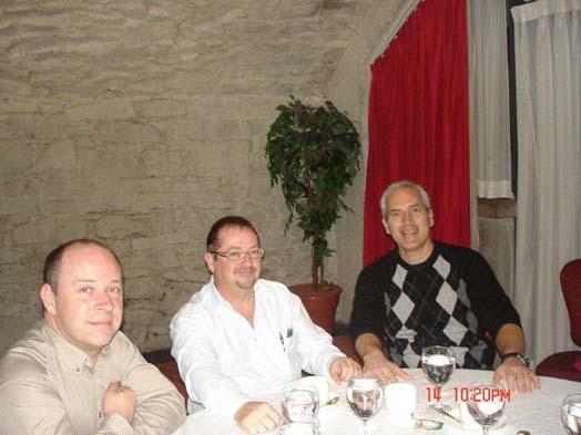 Un terrible trio : Eddy Bizzier et Bernard Contant de Prosol, et Marc Gagnon de Roberts.